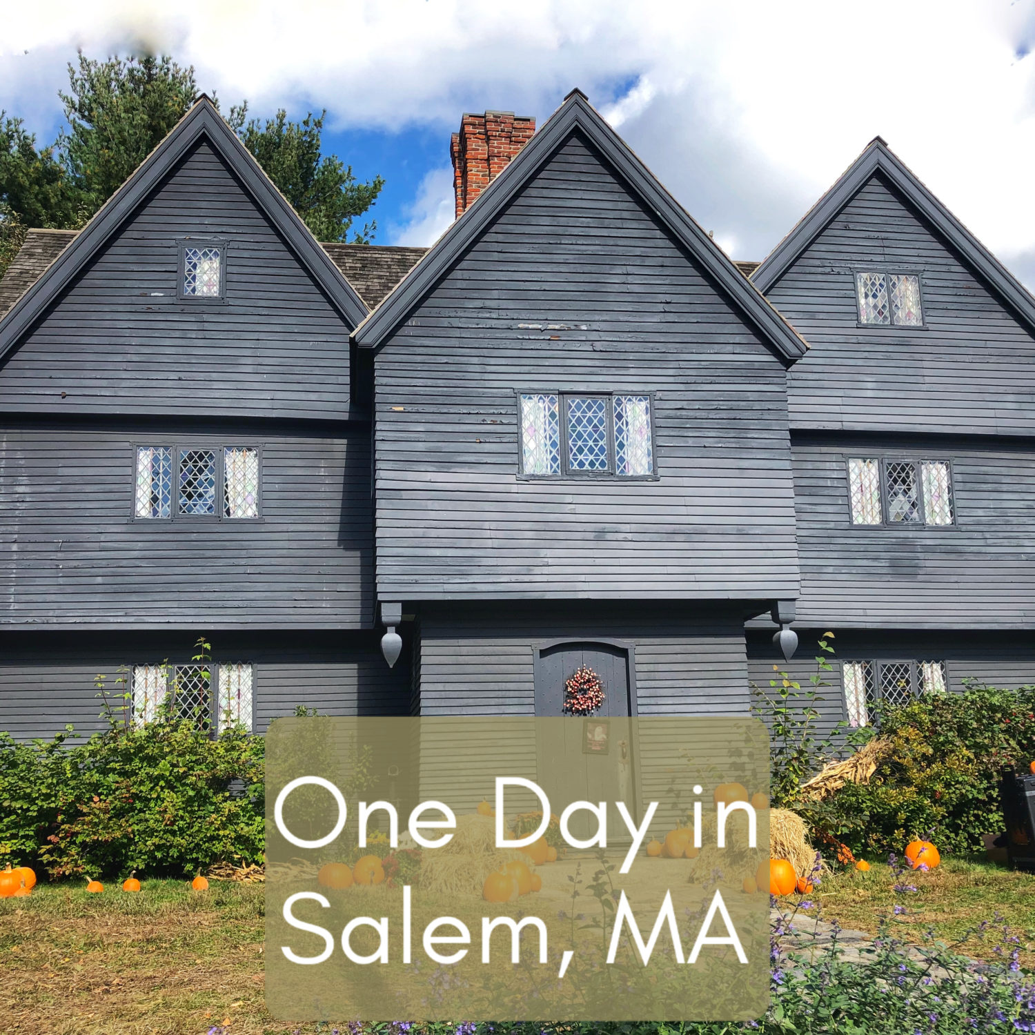 One Day In Salem, MA at Halloween