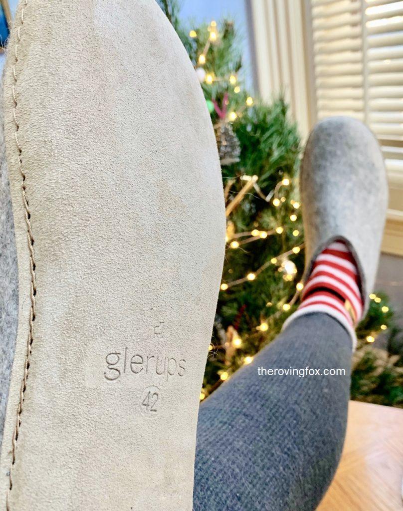 Glerups Wool Slippers Grey