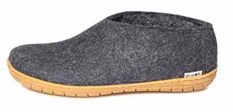 Glerups shoe rubber sole wool slippers