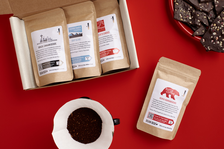 Valentines Gifts For Men Bean Box - Gourmet Coffee Sampler