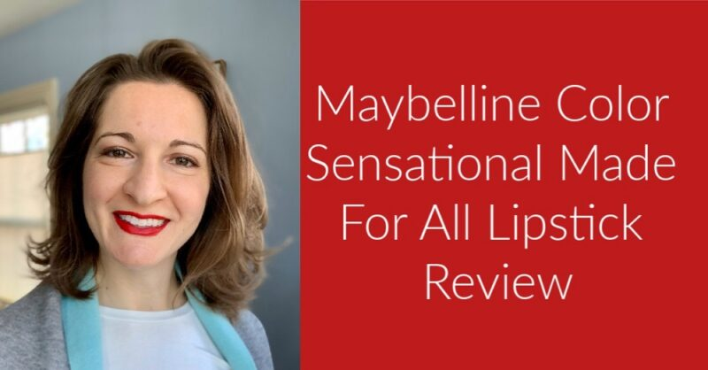 Maybelline Color Sensational Made For All Lipstick Review, red for all