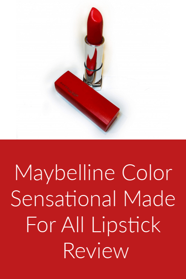 Maybelline Color Sensational Made For All Lipstick Review pinterest